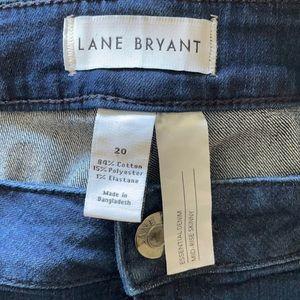 Lane Bryant Essential Denim Mod-Rise Skinny Sz 20